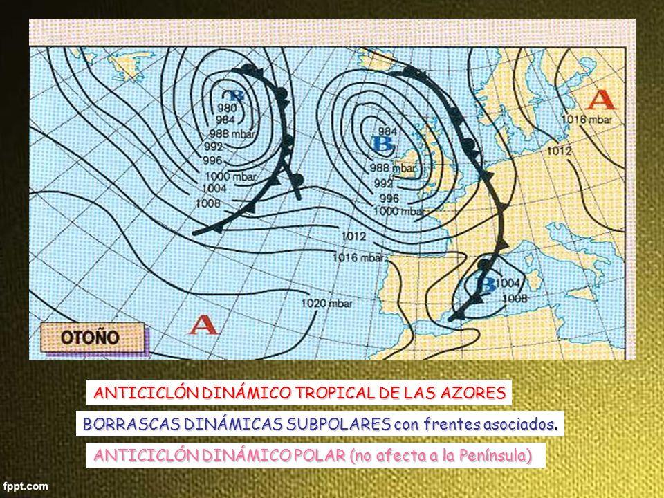 BORRASCA DINÁMICA SUBPOLAR, con frente frío asociado y fuertes vientos.