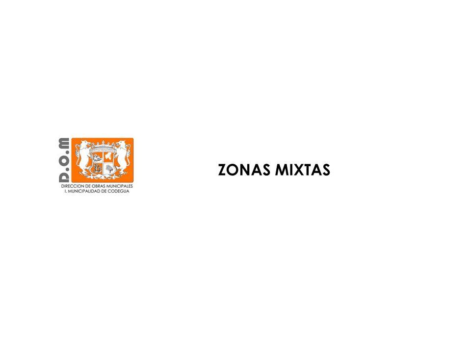 Zona Centro de la Comuna, Av. O`Higgins ZONA MIXTA CENTRO HISTÓRICO (ZM1)