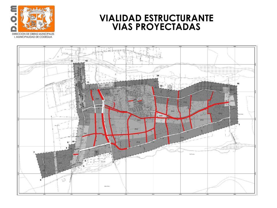 VIALIDAD ESTRUCTURANTE EXISTENTE LA COMPANIA