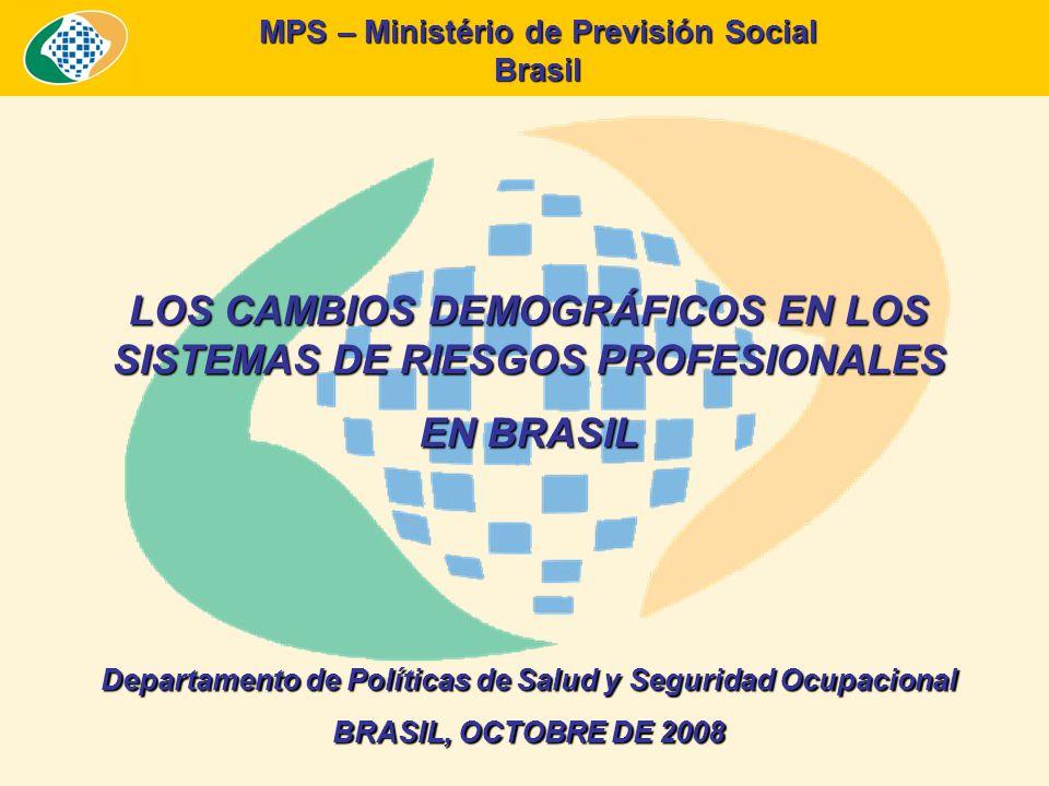 MPS – Ministério de Previsión Social Brasil ASPECTOS DEMOGRÁFICOS Y MERCADO DE TRABAJO