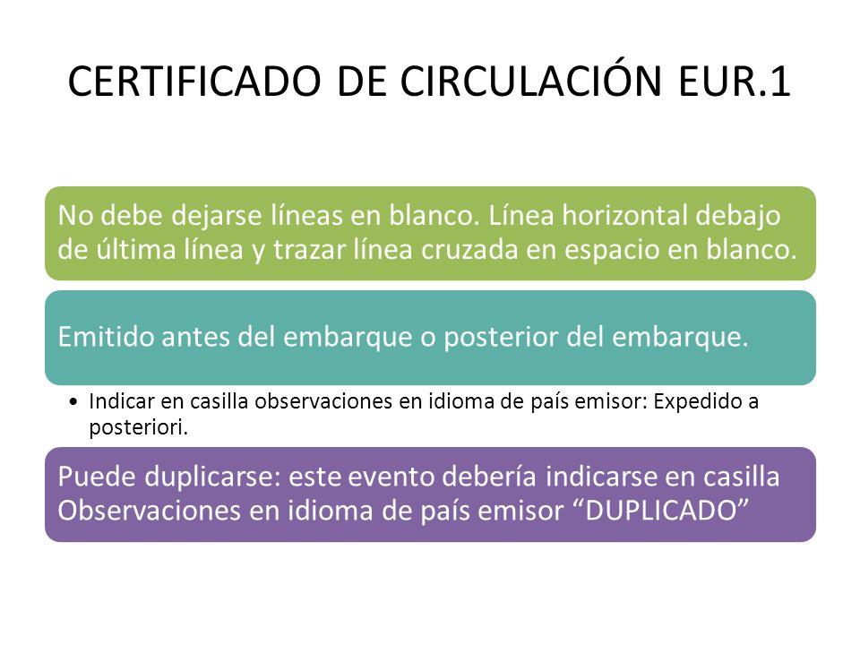 DECLARACIÓN EN FACTURA Un exportador autorizado.