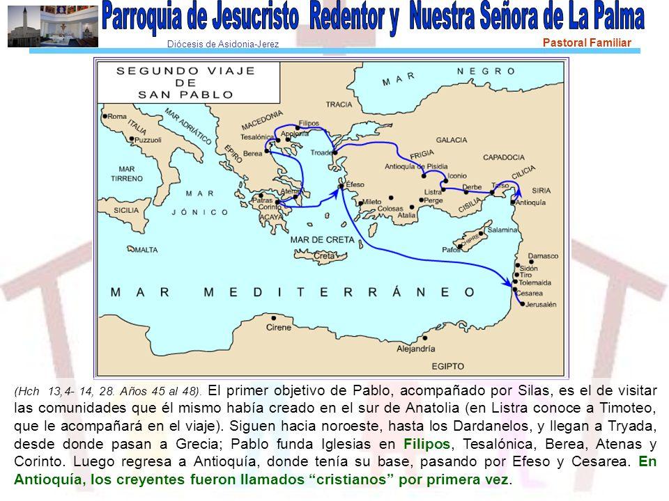 Diócesis de Asidonia-Jerez Pastoral Familiar Nos embarcamos en Tróada y fuimos derechos a Samotracia, y al día siguiente a Neápolis; de allí pasamos a Filipos, que es una de las principales ciudades de la demarcación de Macedonia, y colonia.
