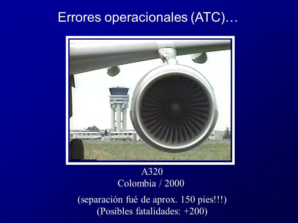 A320 Colombia / 2000 (separación fué de aprox.