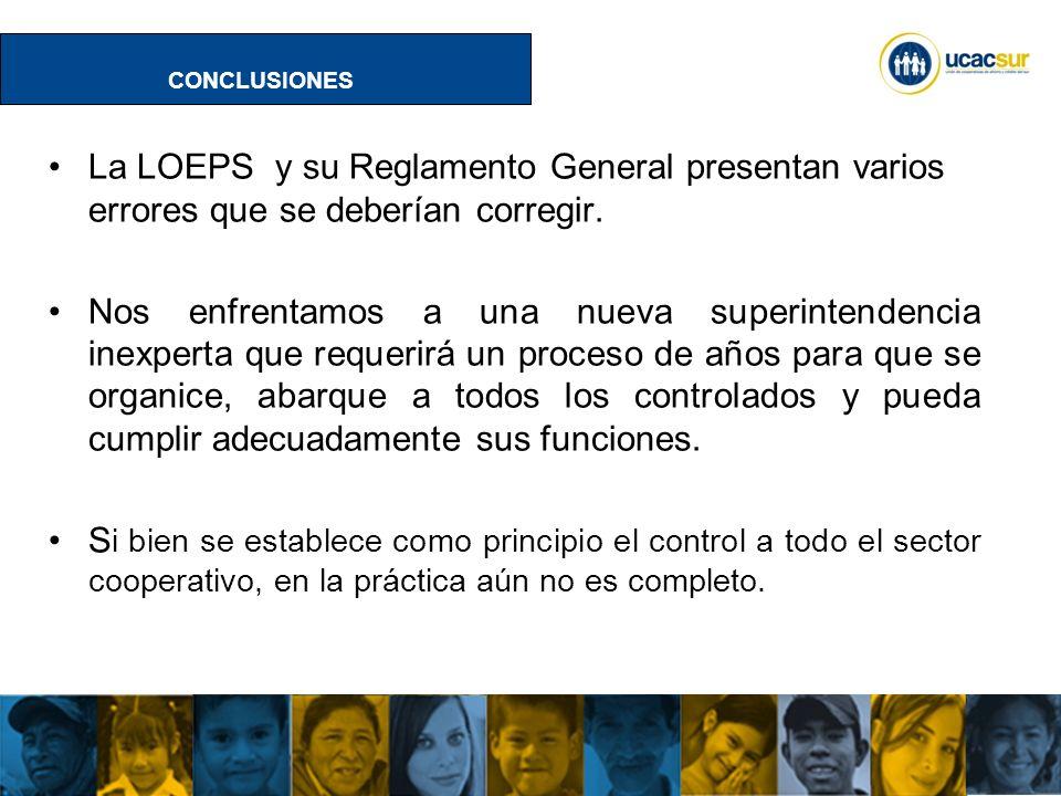 UCACSUR Cuenca: Eugenio Espejo 8-38 y Padre Aguirre Teléfono: 593 7 2838195 WWW.UCACSUR.COOP Segmentación del sector cooperativo incompleta.