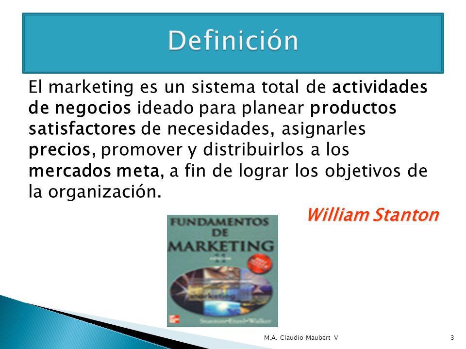 El marketing es un proceso social y administrativo mediante el cual grupos e individuos obtienen lo que necesitan y desean a través de generar, ofrecer e intercambiar productos de valor con otros.