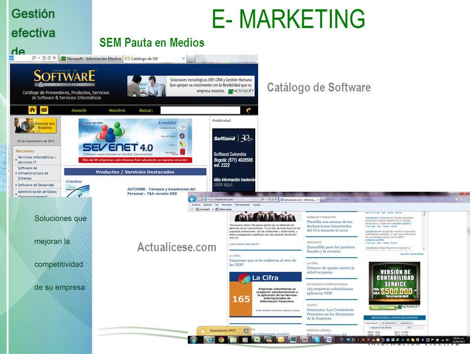 E- MARKETING SEM Pauta en Medios Accounter