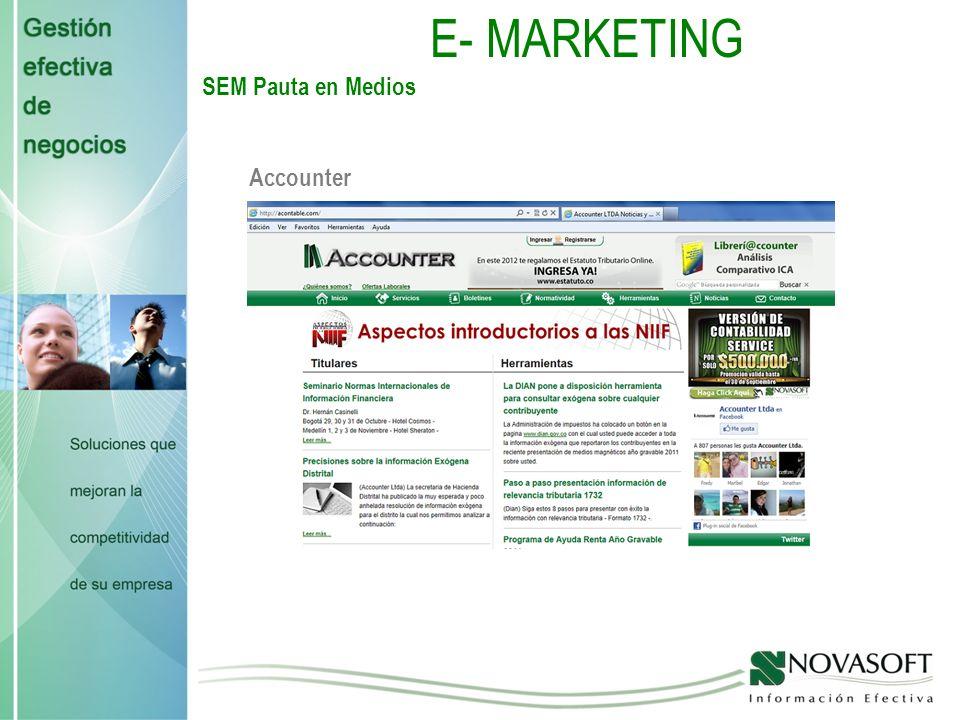 E - MARKETING Landing Page ERP