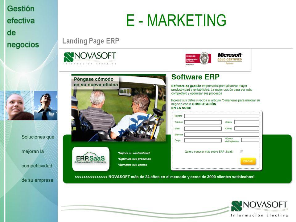 E-MARKETING Landing Page GH