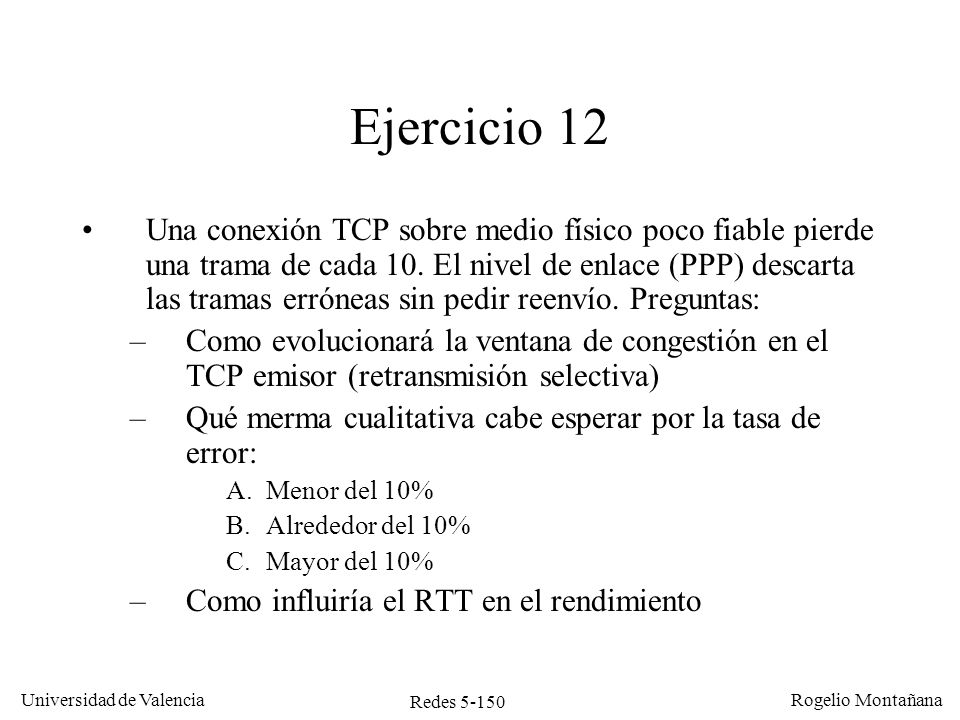 Redes 5-151 Universidad de Valencia Rogelio Montañana Ventana cong.