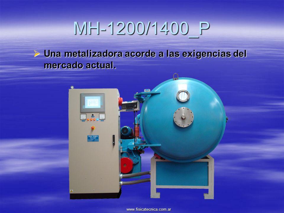 MH-1200/1400_P Con limpieza iónica superficial de la pieza.