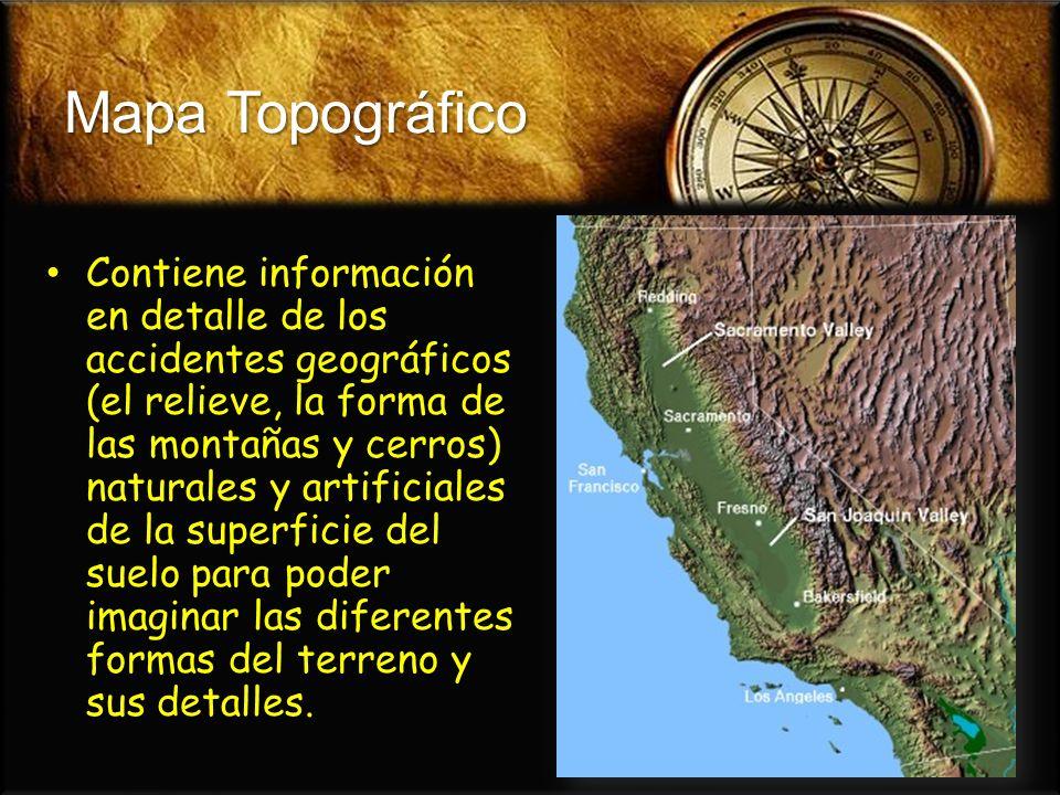 Mapa Climático Identifica las áreas de los diferentes grupos climáticos de un país o del mundo.