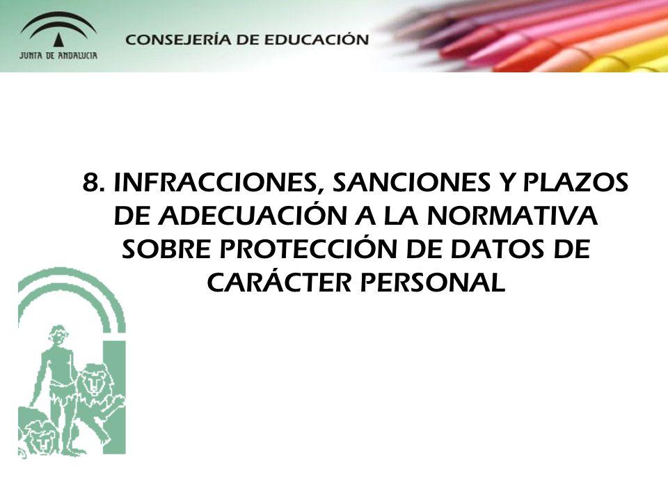 Ley Orgánica 15/1999 contempla en su Título VII el catálogo de infracciones, que se dividen en leves, graves o muy graves.
