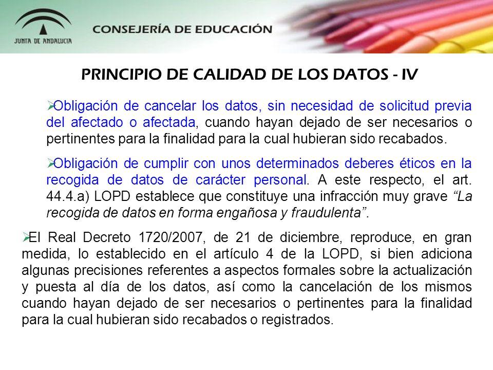 Tal y como señala la propia Agencia Española de Protección de Datos, el deber de información al afectado, previo al tratamiento de sus datos de carácter personal, es uno de los principios fundamentales sobre los que se asienta la Ley Orgánica 15/1999 y así viene encuadrado dentro de su Título II.