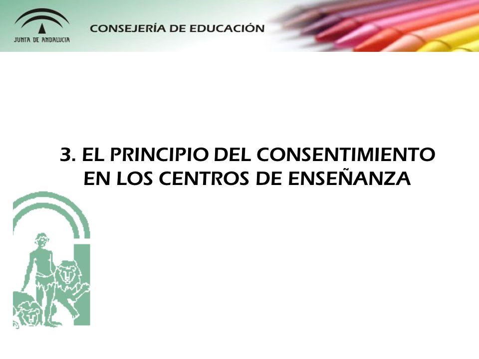 En el ámbito educativo la cuestión del consentimiento se complica, ya que en la gran mayoría de los casos estamos hablando de personas menores de edad.