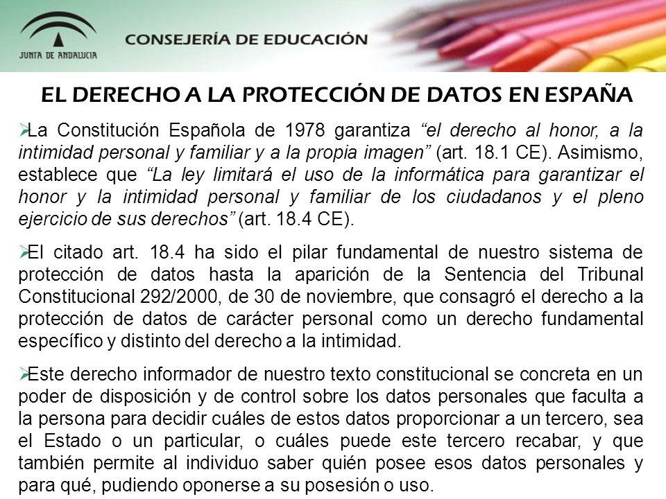 La primera norma reguladora del derecho a la protección de datos en España fue la Ley Orgánica 5/1992, de 29 de octubre, reguladora del tratamiento automatizado de datos de carácter personal (LORTAD), dictada, con cierto retraso, como consecuencia de la ratificación por España del Convenio 108 del Consejo de Europa.