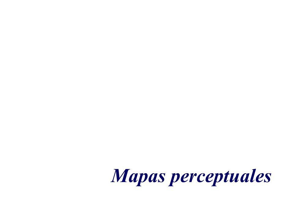 Son presentaciones gráficas de las relaciones que existen entre objetos o sujetos y atributos de un producto o marca.