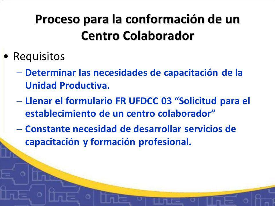 Unidades Participantes Unidad de Centros ColaboradoresUnidad de Centros Colaboradores: Se encarga de coordinar todas las relaciones entre las Unidades Participantes, facilitando los procesos.