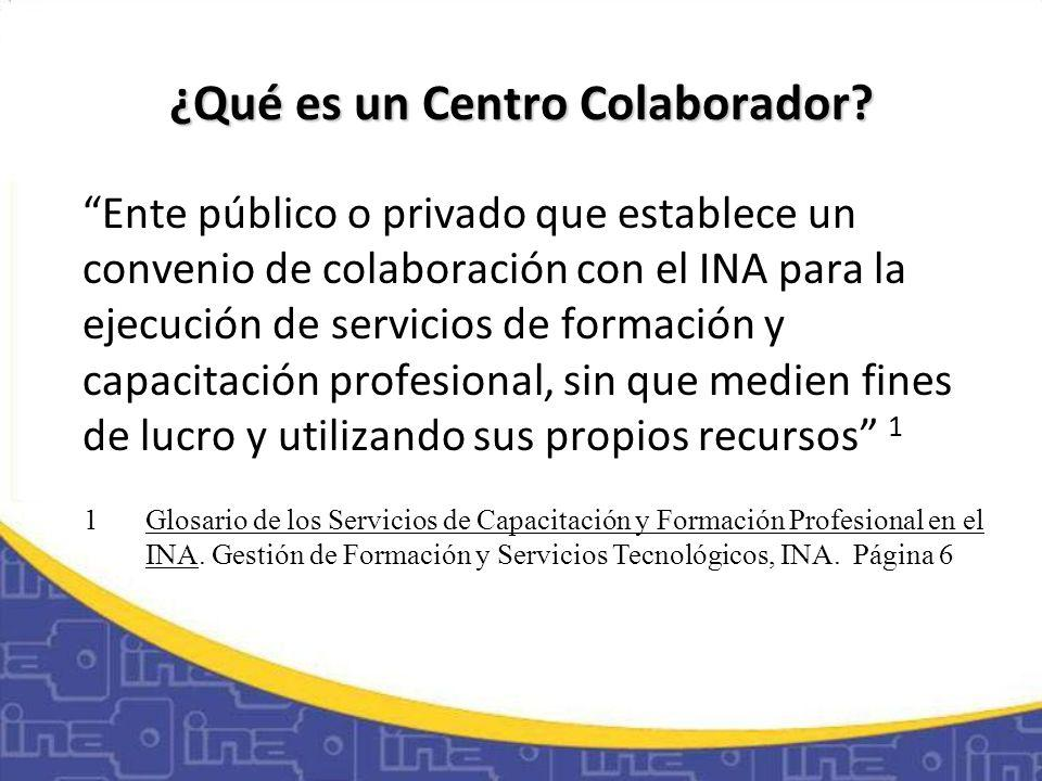 Características Esenciales El INA proporciona el diseño curricular, la asesoría, seguimiento y la certificación de los servicios de capacitación y formación profesional realizados en el marco del convenio.