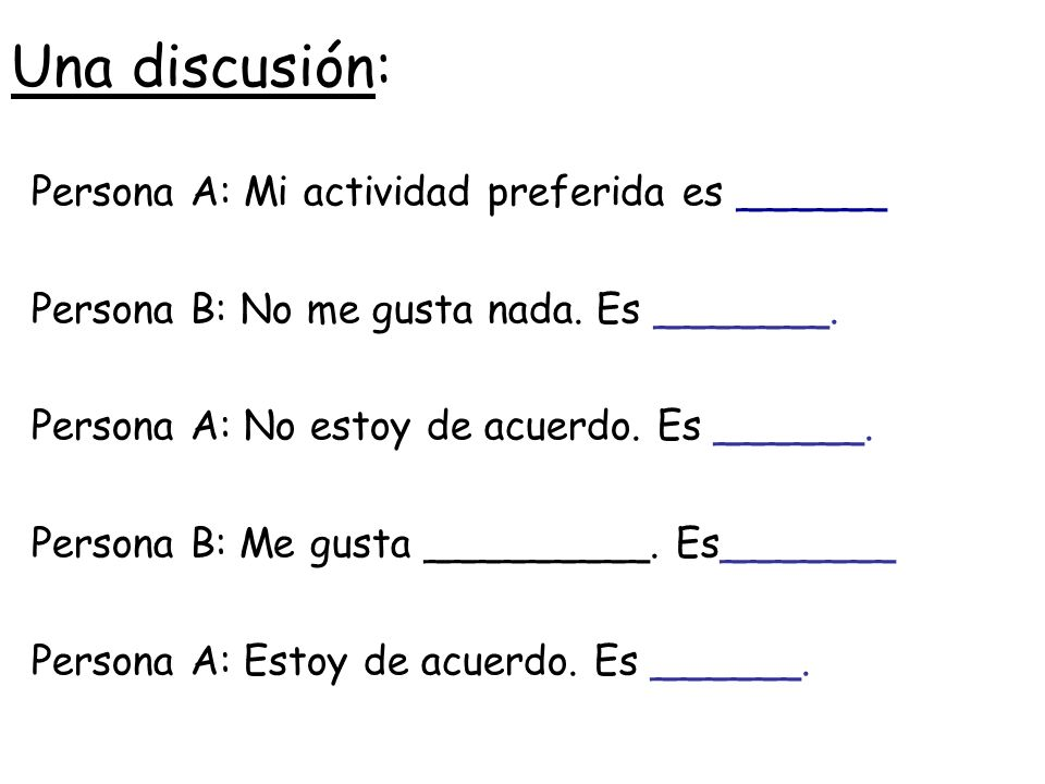 Los verbos: Presente Verbs like: –jugar –escuchar –tocar (yo) jueg 1.Take out ar bit 2.Add the following endings (tú) jueg (él, ella)jueg o as a