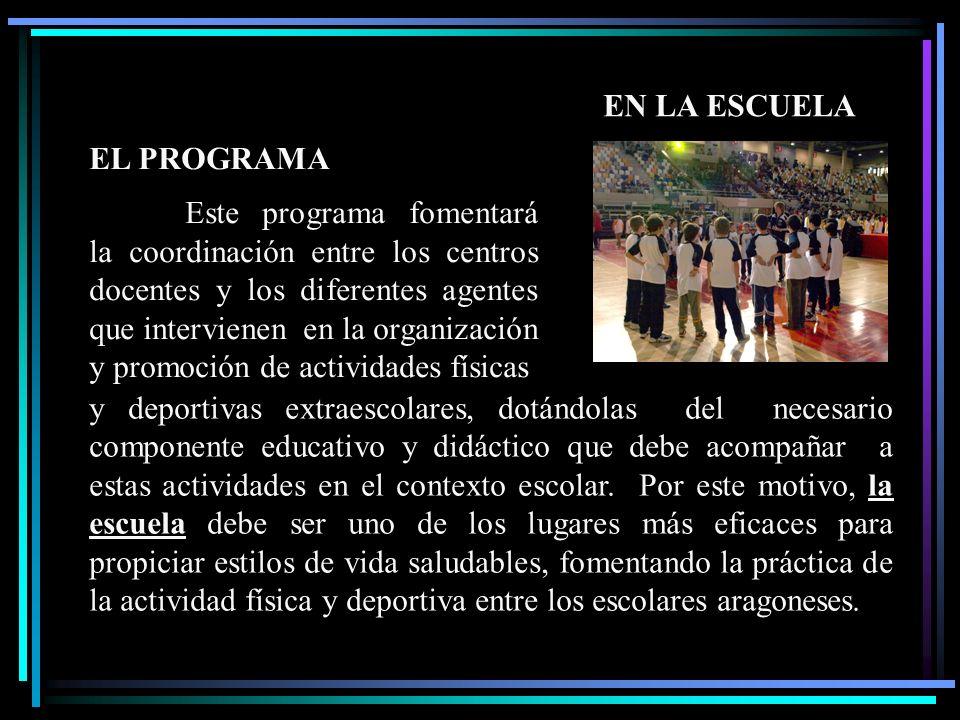 Finalidades del Programa de la Actividad Física y el Deporte Generar un clima que fomente dentro del ámbito escolar los valores y actividades saludables, físicas y deportivas.