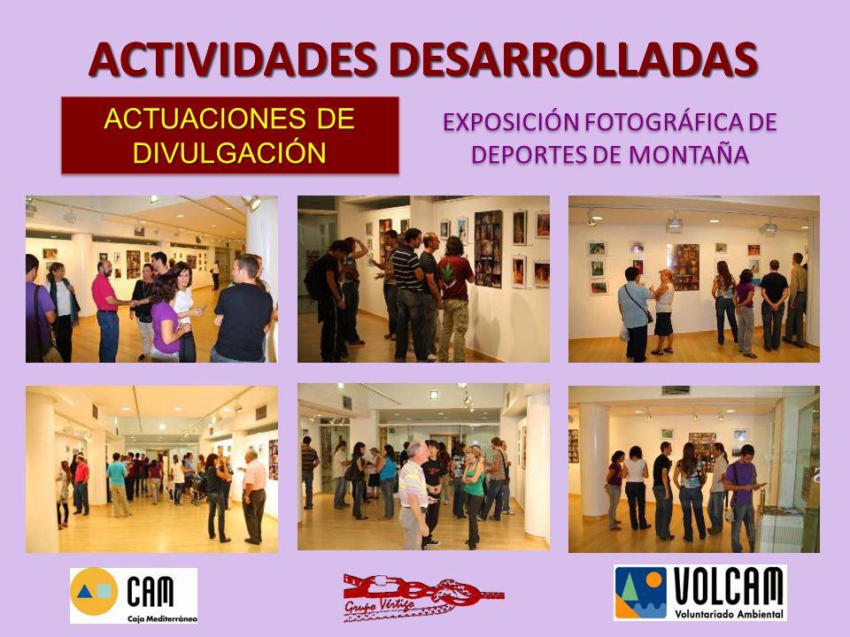 El primer material del proyecto que realizamos fueron los trípticos que se repartieron por toda la ciudad de Murcia, en los lugares específicos en los que se podían captar voluntarios (tiendas de montaña, clubs, federaciones, universidad…) ACTUACIONES DE DIVULGACIÓN TRÍPTICOS DEL PROYECTO