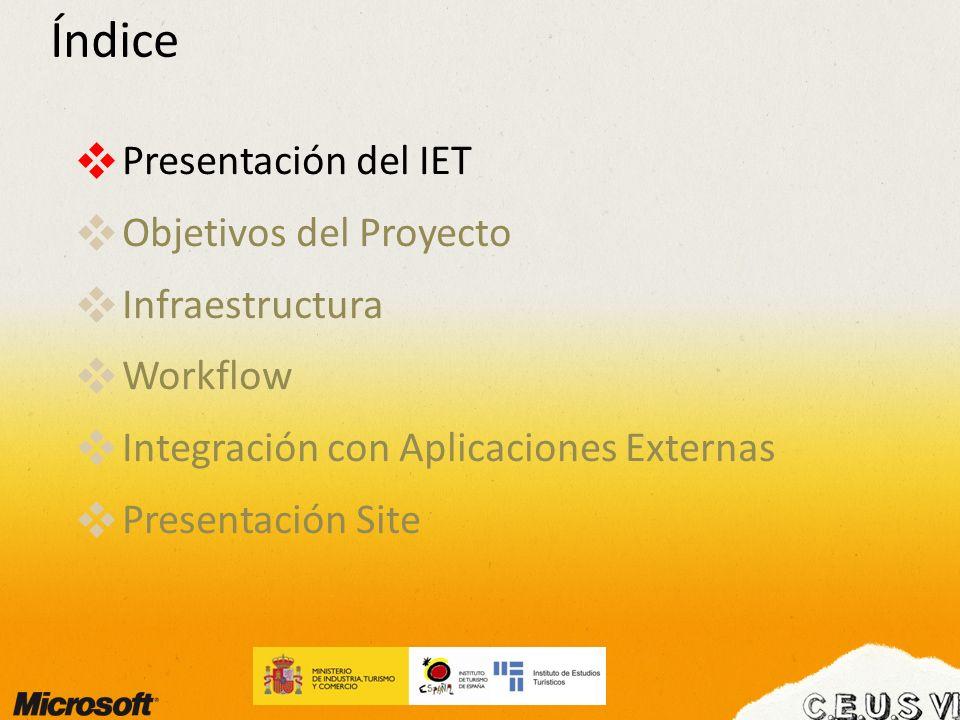 Presentación del IET Principales Líneas de Actuación: Elaboración de Estadísticas Turísticas de producción propia (Frontur, Egatur y Familitur).