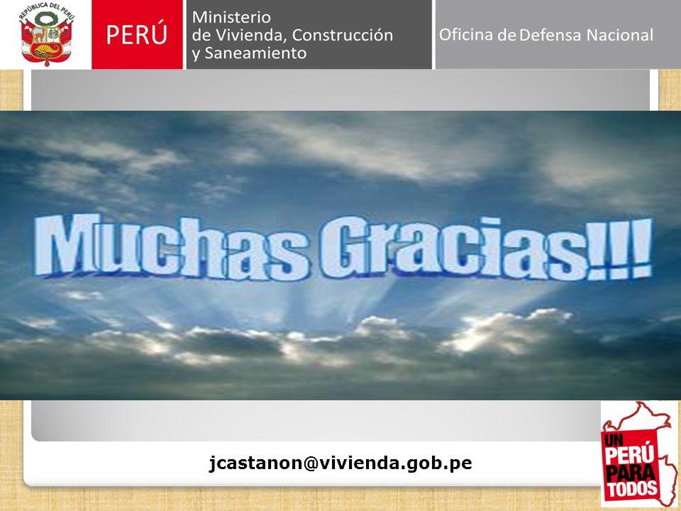 GRACIAS jcastanon@vivienda.gob.pe