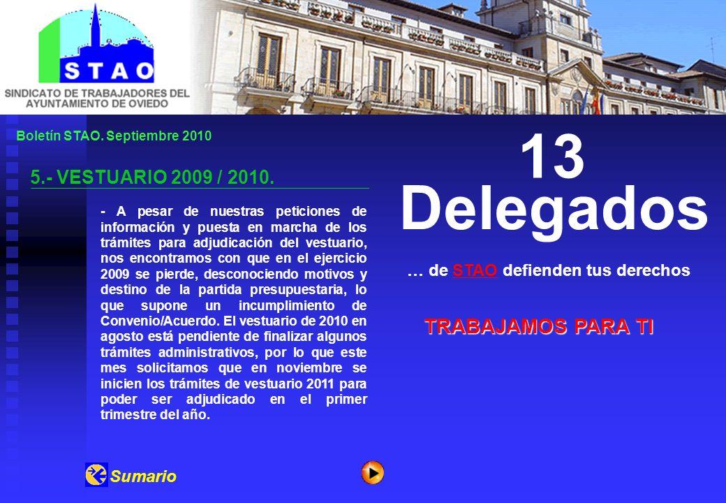 Boletín STAO.Septiembre 2010 6.- OFERTA DE EMPLEO 2002 / 2010.