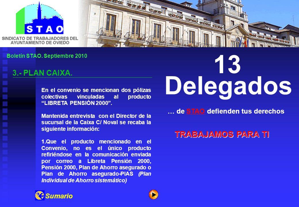 Boletín STAO.Septiembre 2010 3.- PLAN CAIXA.