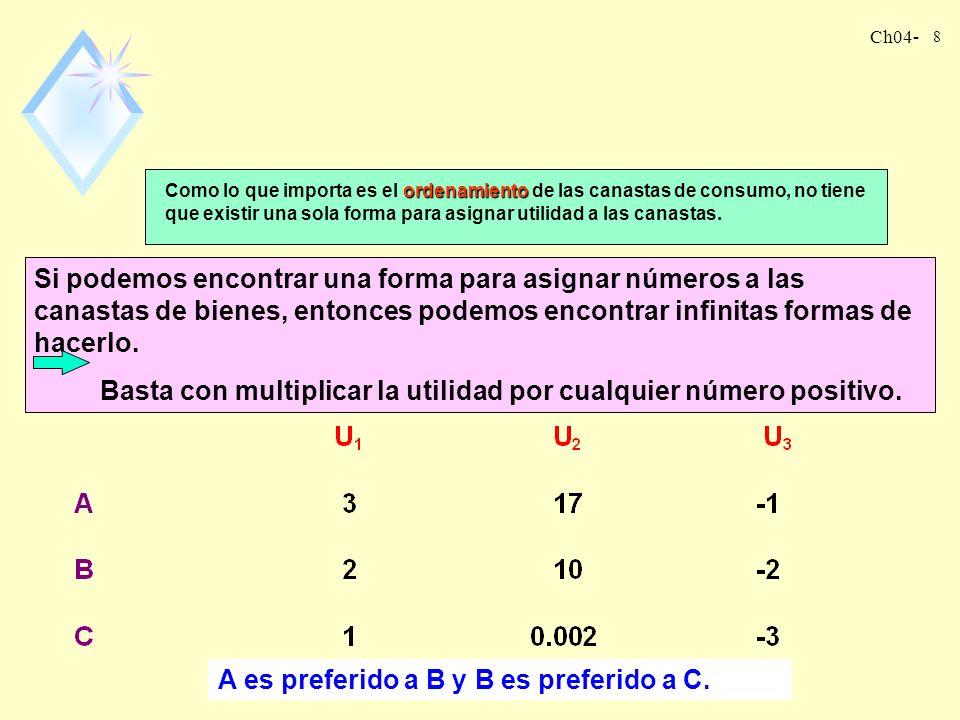 Ch04- 8 A es preferido a B y B es preferido a C.