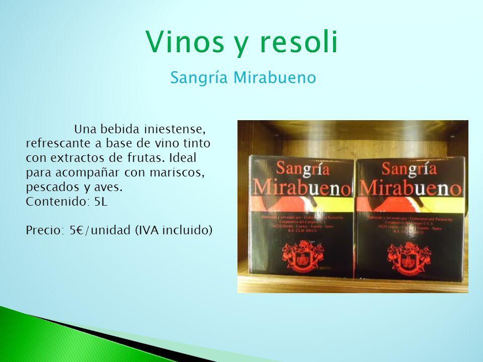 Resoli Licor típico de cuenca de 16º vol, presentado en botella ornamental representando las casas colgadas de Cuenca.
