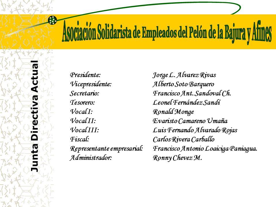 Junta Directiva Actual Presidente:Jorge L.