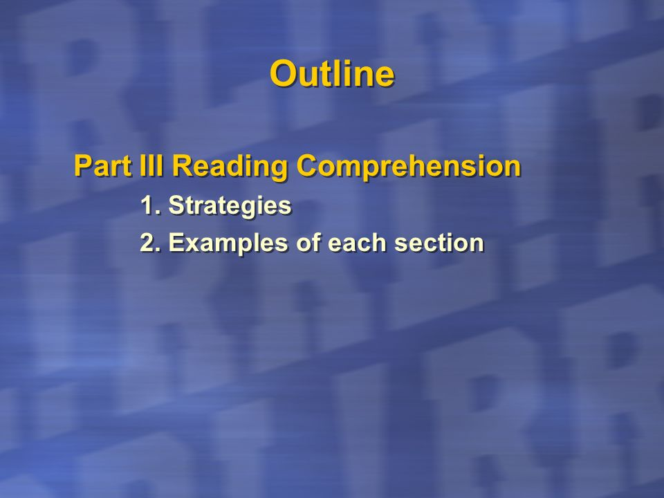 Outline Part IV Writing 1.The Rubric… What is expected.