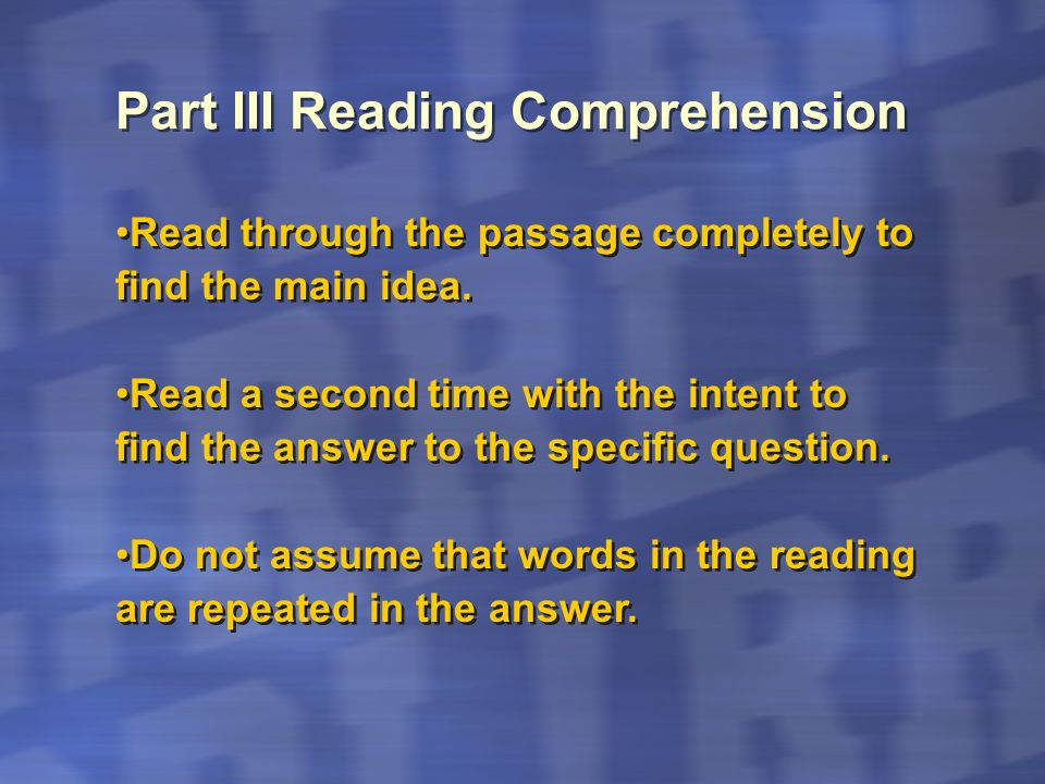 Relate the main idea with vocabulary that you already know and deduce the meaning of other words by how they are used in the paragraph.