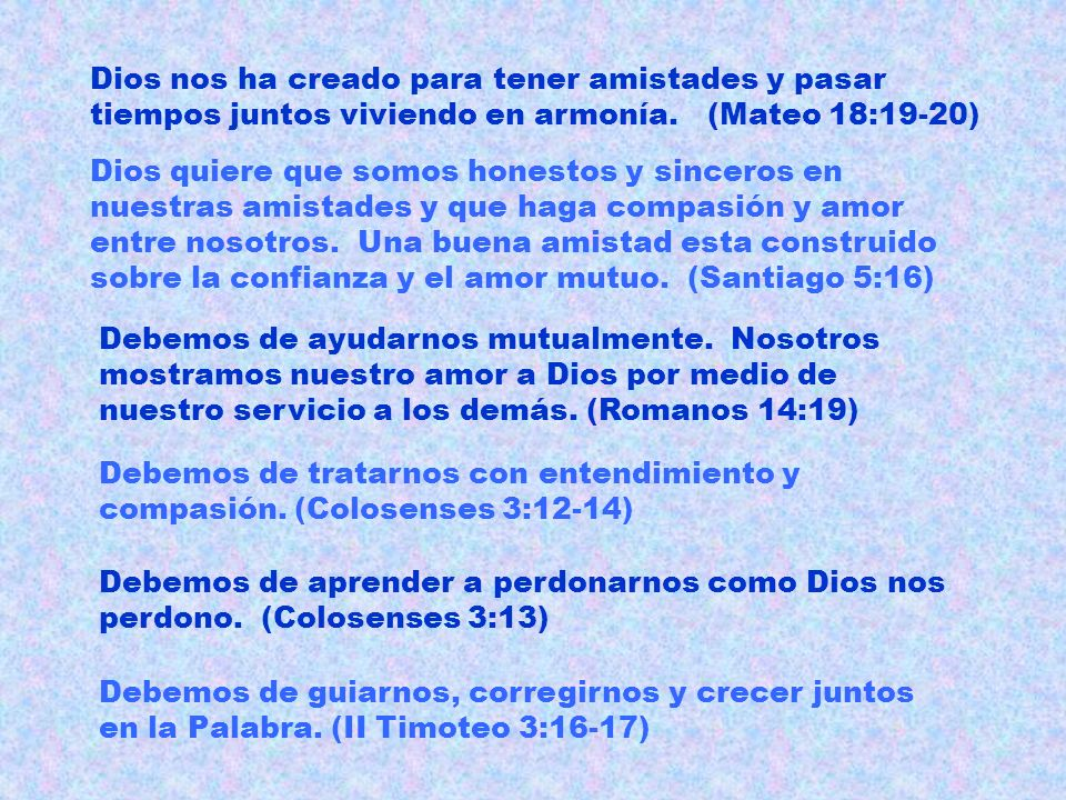 El mundo y las amistades verses los cristianos y las amistades.