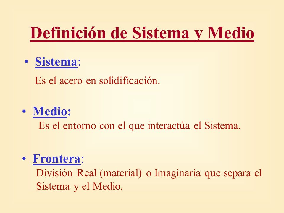 Q La FRONTERA usada en los Modelos de Solidificacion es la PIEL del Desbaste SISTEMA FRONTERA MEDIO