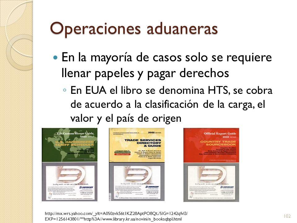 Operaciones aduaneras Las reglas generales de interpretación(GRI) describen como leer el HTS Características esenciales del producto determinadas por las aduanas para clasificación Doctrina de la totalidad, cobrar por el producto final de módulos separados 103