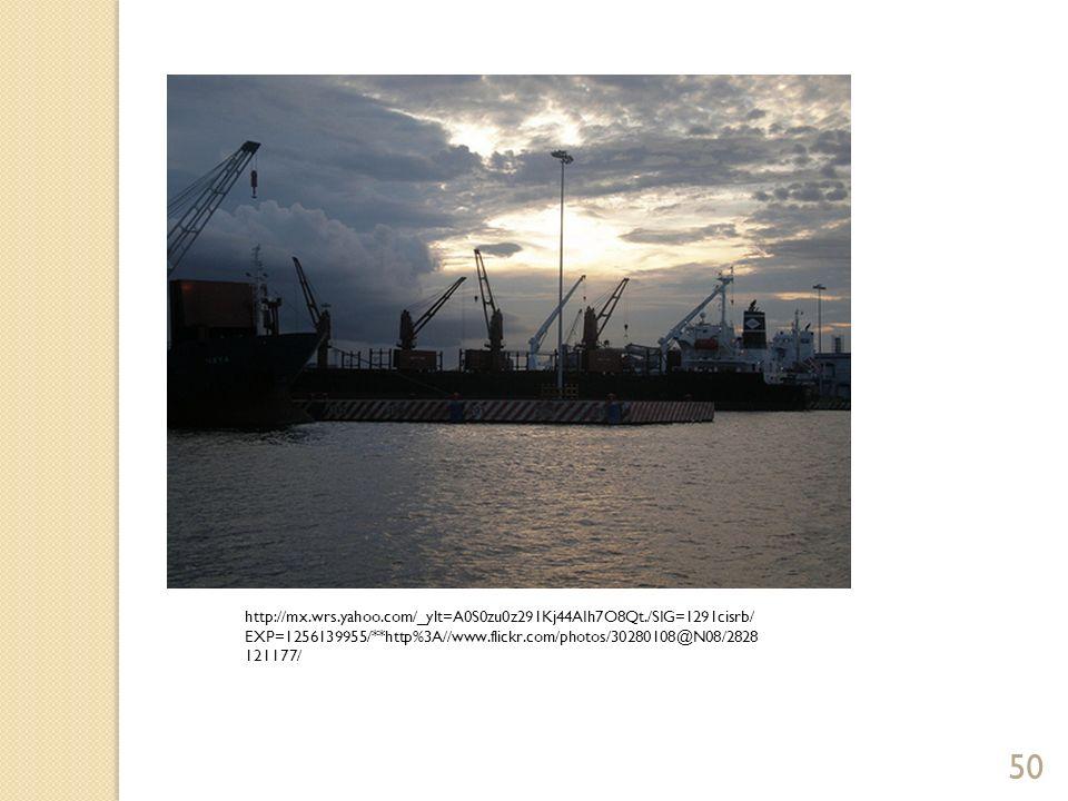 Puertos y función de sus instalaciones Aspectos de un puerto Ubicación con los mercados Ubicación en relación con sus competidores Conexiones en tierra firme Infraestructura y tecnología Accesibilidad a una línea de intercambio comercial Administración 51