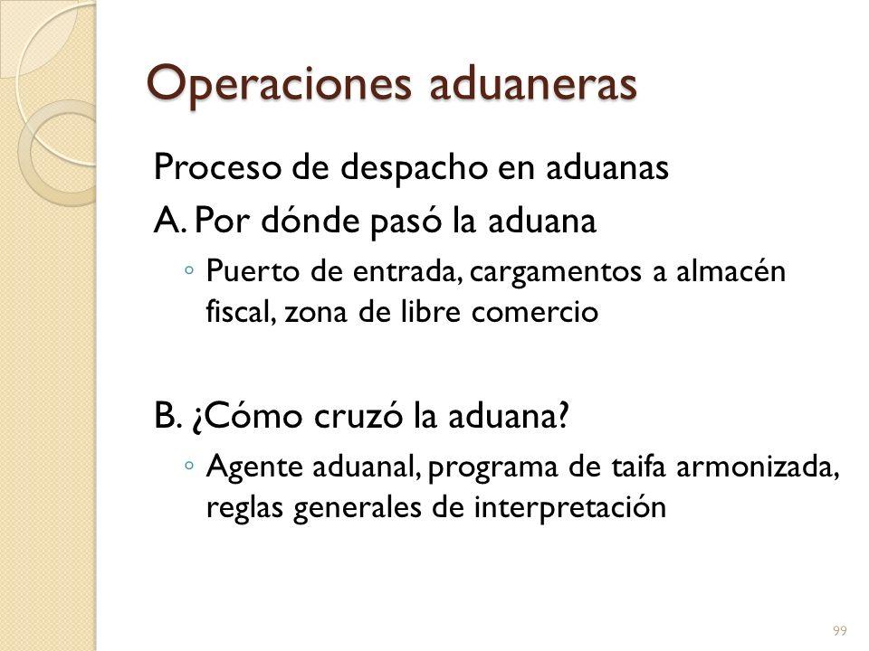 Operaciones aduaneras C.