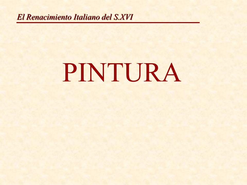 El Renacimiento Italiano del S.XVI Nesta etapa, a fase do dominio técnico está superada.