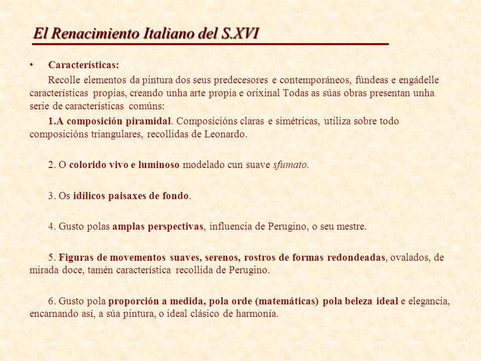El Renacimiento Italiano del S.XVI DESPOSORIOS DA VIRXE PERUGIA, INFLUENCIA DE PERUGINO 1501- 1504