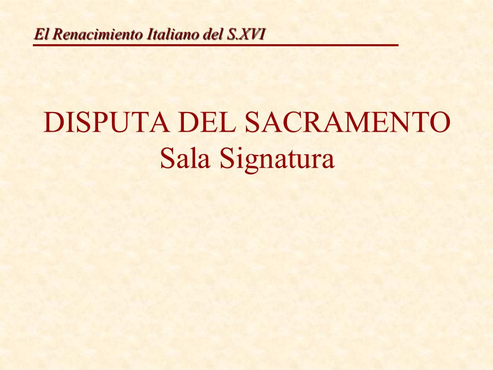 El Renacimiento Italiano del S.XVI Rafael Sanzio.