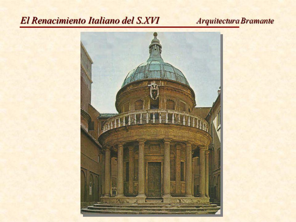 El Renacimiento Italiano del S.XVI Bramante.San Pietro in Montorio.