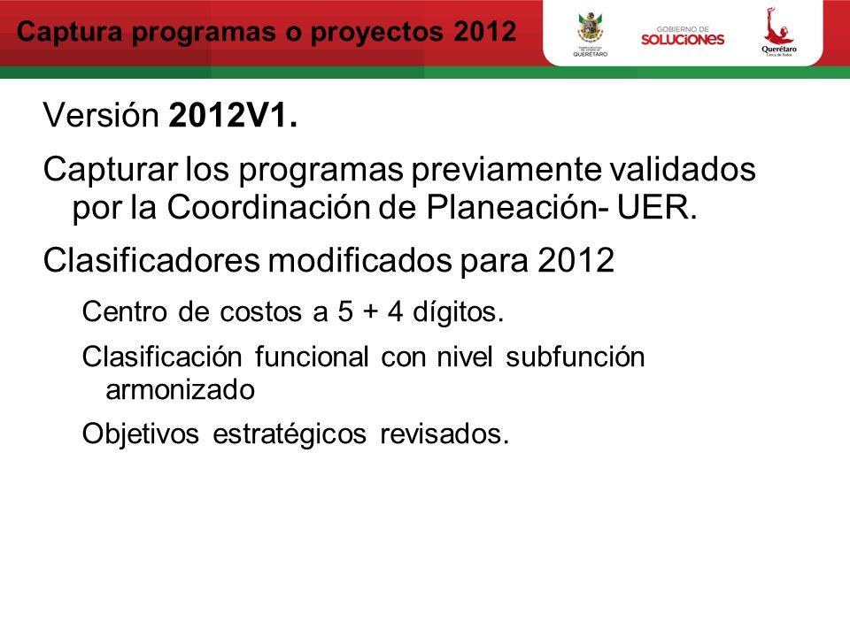 Captura programas o proyectos 2012