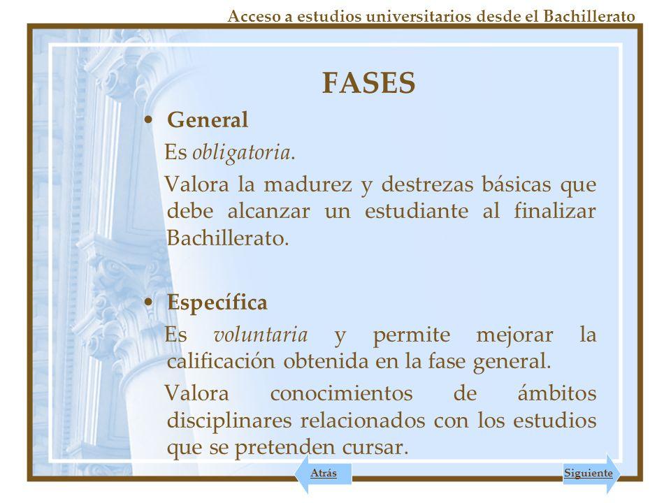 Acceso a estudios universitarios desde el Bachillerato FASE GENERAL EJERCICIOS 1.Comentario texto de Lengua Castellana y Literatura.