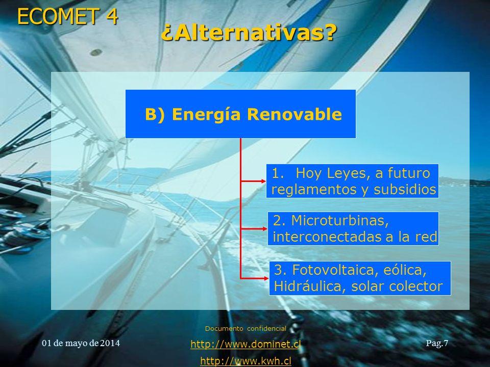 ECOMET 4 01 de mayo de 2014 Documento confidencial http://www.dominet.cl http://www.kwh.cl Pag.8 Situación General Datos año 2009 (Ene-Dic.) Concepto de CobroAT4.3 (3)AT4.2 (2)BT1 (2) TOTAL 1Energía $ 22.642.948$ 4.143.845$ 1.100.493$ 27.887.286 2Demanda Fuera Punta (FP) $ 4.194.665$ 1.711.1310$ 5.905.796 3Demanda Hora Punta (HP) $ 6.780.239$ 1.551.0810$ 8.331.320