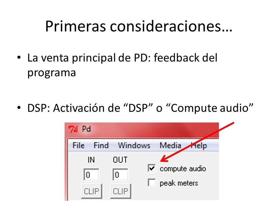 Aspectos básicos de PD Creación de un patch