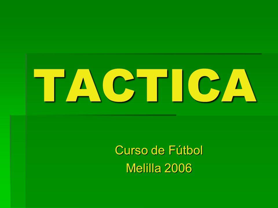DEFINICION Táctica : Son todas aquellas acciones de ataque y defensa que realiza un equipo para tratar de sorprender o contrarrestar al adversario durante el partido, una vez se encuentre el balón en juego.