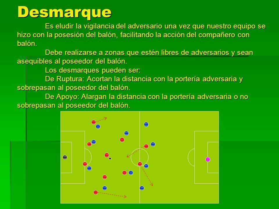 Desmarque El desmarque es uno de los elementos esenciales del juego ofensivo.