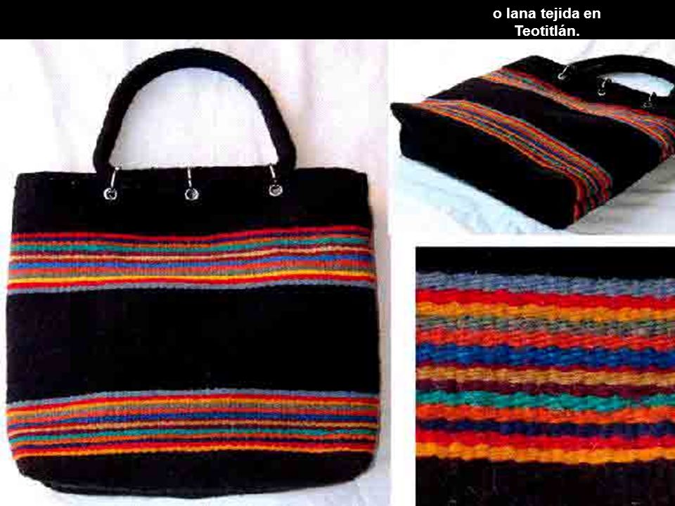 o lana tejida en Teotitlán.